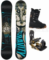 Pánský snowboardový komplet Gravity Cosa black/brown