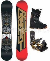 Snowboardový komplet Gravity Bandit black/brown