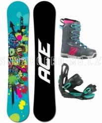 Dámský snowboard komplet Ace Venom black/blue