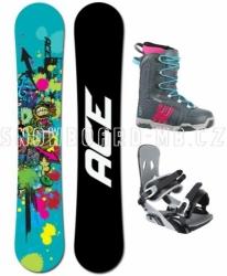 Snowboardový dámský komplet Ace Venom graffiti modrý