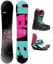 Dámský snowboard komplet Raven Pearl black