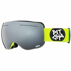 Snow brýle Pitcha SG-FSP fluo/black mirrored svítivě zelený pásek a černé sklo