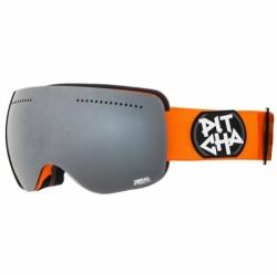 Brýle na snowboard a lyže Pitcha SG-FSP orange /black mirrored, černé sklo a oranžový rámeček