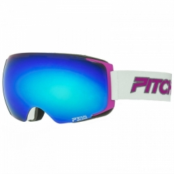 Brýle Pitcha magno white/pink/blue mirrored, modré měnitelné dvojité sklo a růžový fialový rámeček