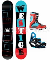 Levný snowboard komplet Westige Square s vázáním a botami