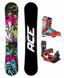 Snowboardový komplet Ace Monster, levné snowboardy