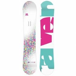 Dětský snowboard  Raven Pearl white junior