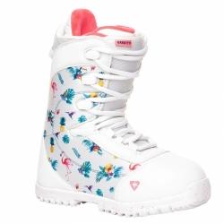 Dětské snowboardové boty Gravity Micra white, dívčí snb obuv bílá s obrázky