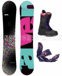 Dámský snowboardový komplet Raven Pearl black/pink