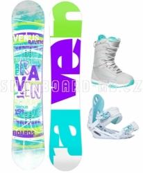 Dámský snowboard komplet Raven Venus, dámské snb sety s botami