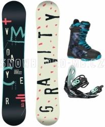 Dámský snowboard komplet Gravity Voayer blue 17/18