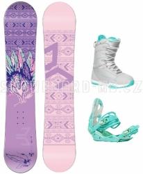 Dámský a dívčí snowboardový set Beany Spirit s botami Gravity