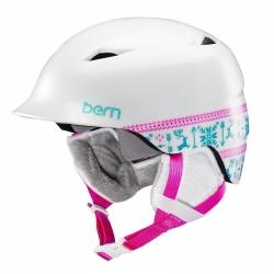 Dívčí helma Bern Camina satin white fair isle