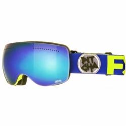 Snowboardové a lyžařské brýle Pitcha FSP Navy fluo/blue mirrored, modré zrcadlové sklo