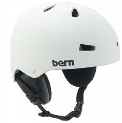 Přilba na snowboard BERN Macon EPS EF matte white/bílá helma na snb