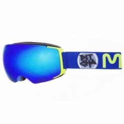 Snow brýle Pitcha Magno Navy fluo/blue mirrored, brýle na snowboard a lyže s měnitelným sklem