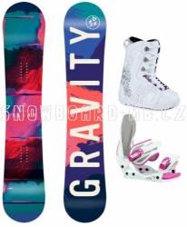 Dívčí snowboard komplet Gravity Fairy white