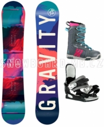 Dívčí snowboard komplet Gravity Fairy pro začátečnice a mírně pokročilé