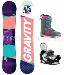 Dámské snowboard komplety Gravity Electra s botami Westige