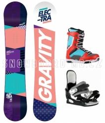Dámský snowboard komplet Gravity Electra s vázáním a botami Westige