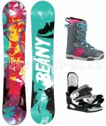 Dívčí a dámský snowboard komplet Beany Action, levné snb komplety pro dívky