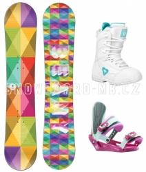 Holčičí snowboardový komplet Beany Spectre, barevné snowboardy pro dívky