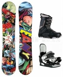 Klučičí dětský snowboardový set Beany Heropunch s vázáním a botami