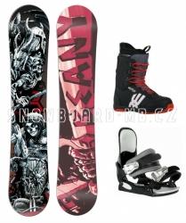 Snowboardový komplet Beany Hell pro juniory i dospělé, motiv lebky, meče, kostra