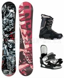 Juniorský chlapecký snowboardový set Beany Hell, komplet s lebkami