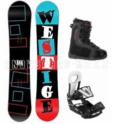 Snowboardový komplet Westige Square a vázáním Volkl a botami Beany
