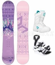 Dívčí a dámský snowboardový set s vázáním a botami Beany Spirit fialový