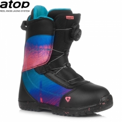 Dětské snb boty Gravity Micra Atop black/pink s utahovacím kolečkem