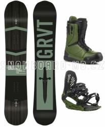 Freestyle / allmountain snowboard komplet Gravity Symbol, rychloutahovací boty Fast Lace