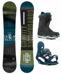 Snowboardový set Gravity Cosa s vázáním a botami rychlozapínacími