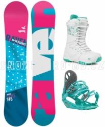 Dámský snowboard komplet Raven Style s botami Gravity white/mint