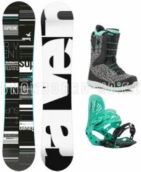 Dámský snowboard komplet Raven Supreme (rychloutahovací boty)