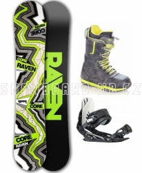 Snowboardový komplet Raven Core Carbon Lime