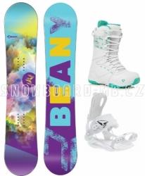 Dívčí a dámský snowboard komplet Beany Meadow s rychlozapínacím vázáním SP
