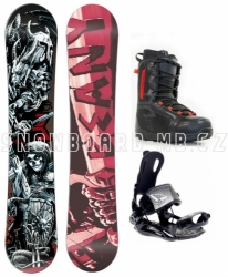Juniorský snowboard komplet Beany Hell a9502a5213