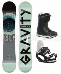 Snowboardový komplet Gravity Madball 2019/2020 s botami s kolečkem Atop
