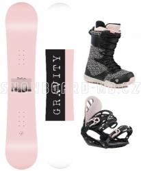 Dámský snowboard komplet Gravity Mist black/pink 2019/20
