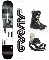 Pánský snowboard komplet Gravity Silent black 2019/2020