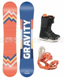 Dámský twintip freestyle/allmountain snowboard komplet Gravity Thunder 2019/20