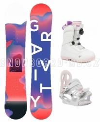 Dětský snowboardový komplet Gravity Fairy 2019/20 s botami s utahováním kolečkem
