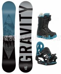 Dětský snowboard komplet Gravity Flash s botami s kolečkem Atop