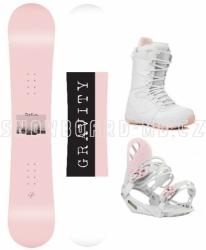 Dámský a dívčí snowboard komplet Gravity Mist white/pink