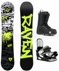 Dětský snowboard komplet Raven Core junior s botami Gravity