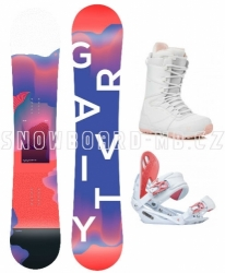 Juniorský dívčí snowboardový komplet Gravity Fairy s většími botami