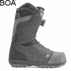 Dámské boty na snb Nidecker Onyx Coiler black boa kolečko