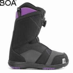 Dámské snb boty Nidecker Maya Boa black s utahovacím kolečkem